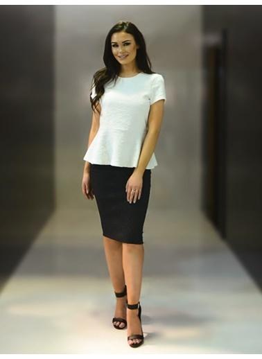 Piaff Kadın Bluz Etek Takım Renkli